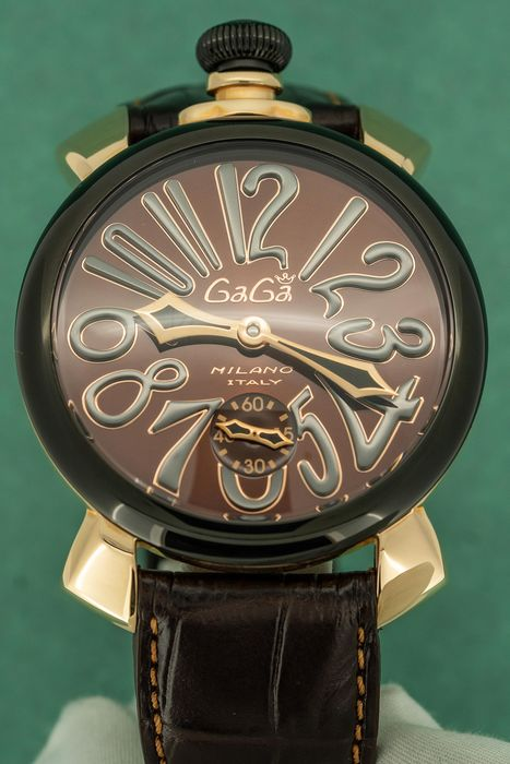 GaGà Milano - Mechanical Manuale 48MM Rose Gold Chocolate Dial Swiss Made - 5014.02S  - Unisex - Brand New