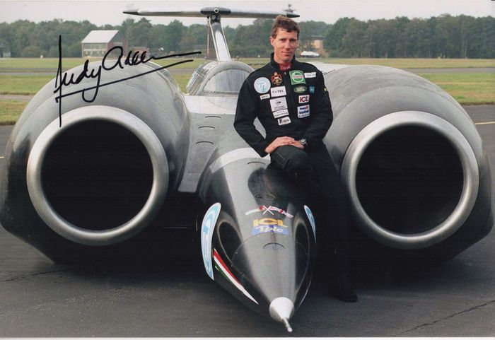 Land Speed Record Holder. - Andy Green - Photograph