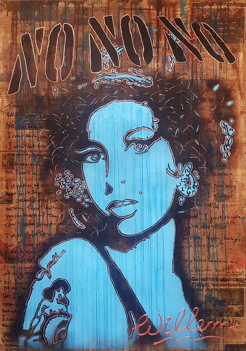 Willem van Roozendaal - Amy Winehouse Newspaper