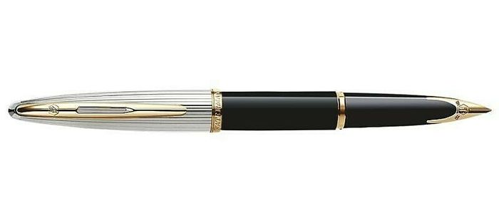 Waterman Carene Deluxe Silver & Deep Blue  - Fountain pen - Part of 1