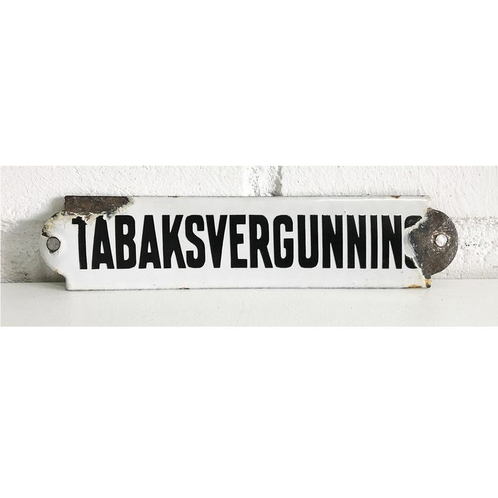 Tobacco license plate - Enamel