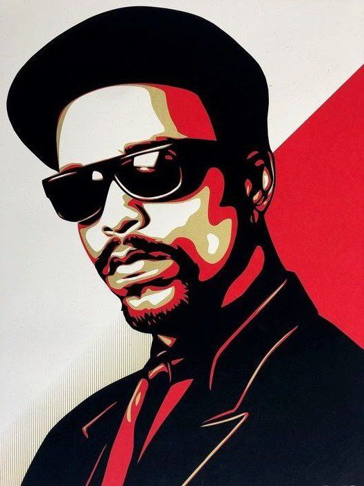 Shepard Fairey (OBEY) - Ice T OG - Red