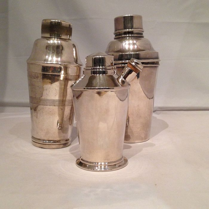 set of cocktail shakers