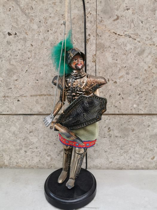 Sicilian puppet (1) - .800 silver, Silver - Italy - First half 20th century