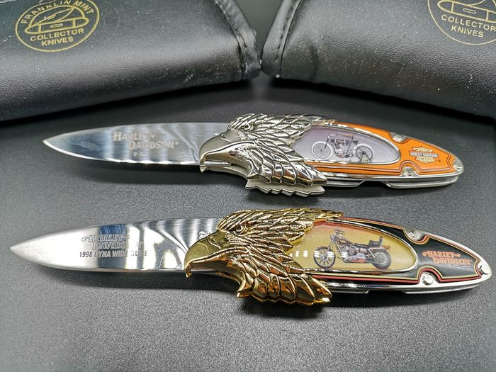 Decorative object - 2 Franklin Mint Harley Davidson Knives - 1998
