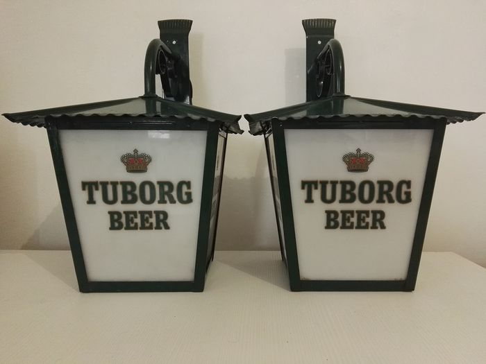 Tuborg Beer - outdoor advertising lamp (2) - Plastic, Metal