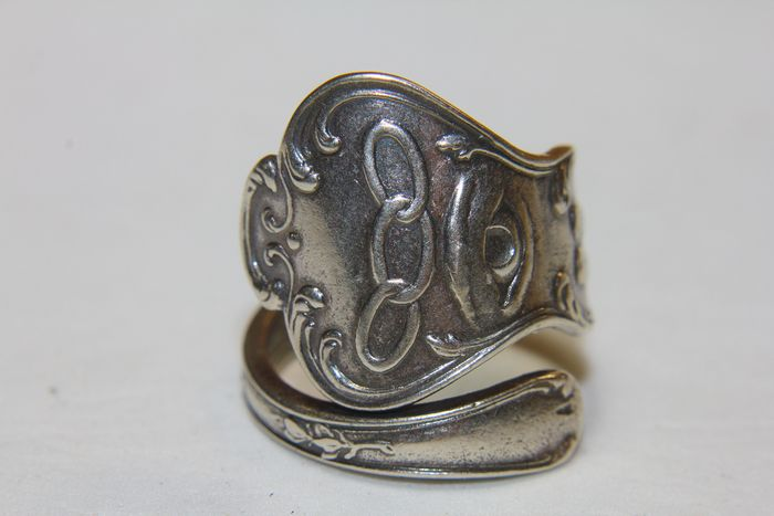 Beautiful 925 Sterling Silver IOOF Masonic Spoon Ring - .925 silver