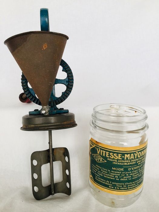 """VITESSE MAYONNAISE"" rare old vintage mayonnaise mixer from grandmother's time - 1920s France"