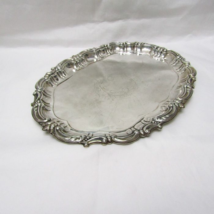 Tray - .915 silver - 370 gr. - Spain - Early 20th century