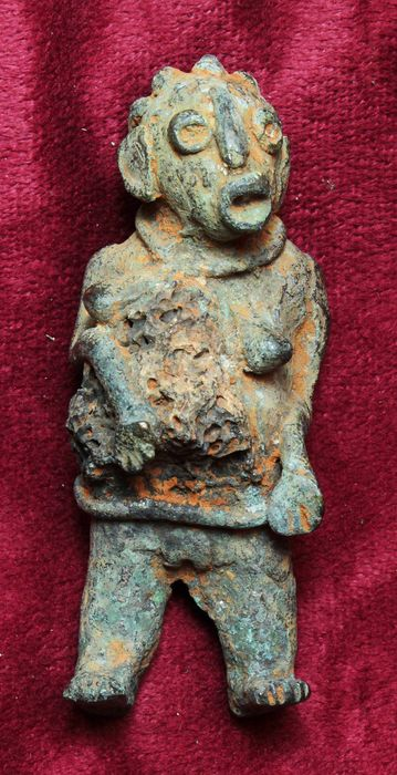 Rare Iron Bakongo Power figure (Nkisi n'kondi) With Iron Ore Charm In The Belly - DRC - Congo  (1) - Iron, Iron Ore - Power figure (Nkisi n'kondi) - Bakongo - Congo DRC