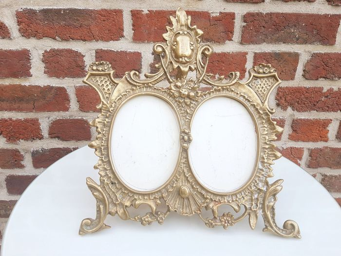 Superb double mirror / bronze frame - late 19th - Bronze (gilt/silvered/patinated/cold painted)