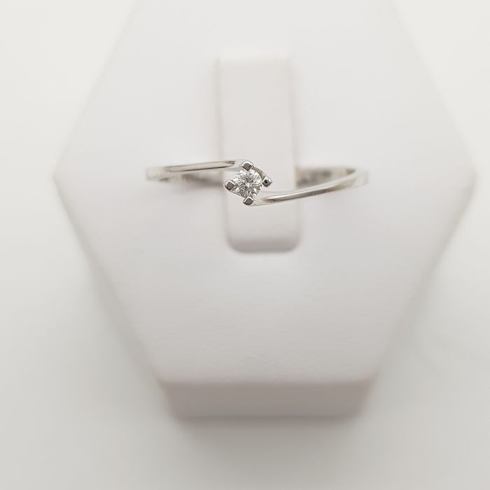 Comete - 18 kt. White gold - Ring - 0.04 ct Diamond