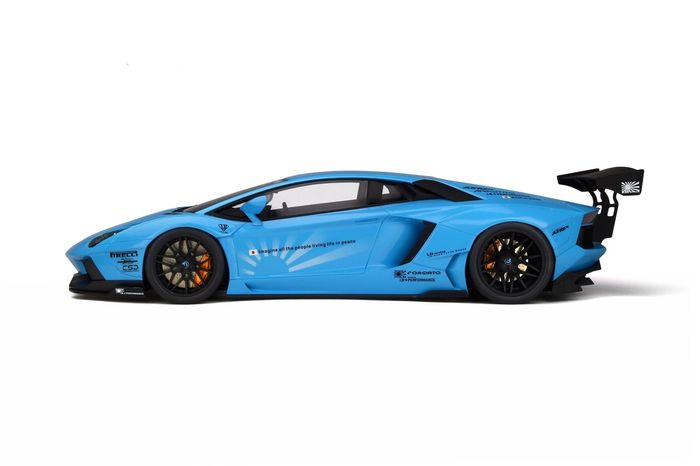 Kyosho - 1:12 - Lamborghini Aventador - by LB-Works - Blauw - Big scale!