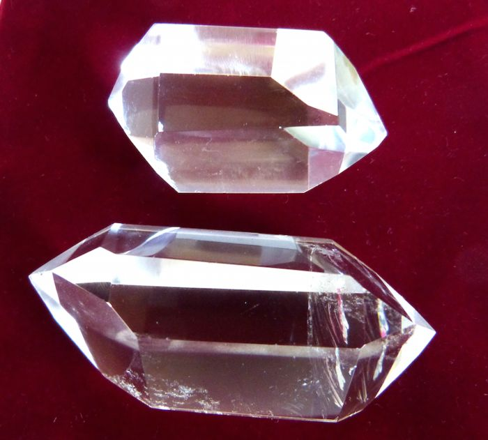 Quartz Doubly terminated - 8 and 6 cm - 195 g - (2)