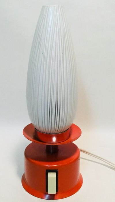 Space Age Lamp - Glass, Metal