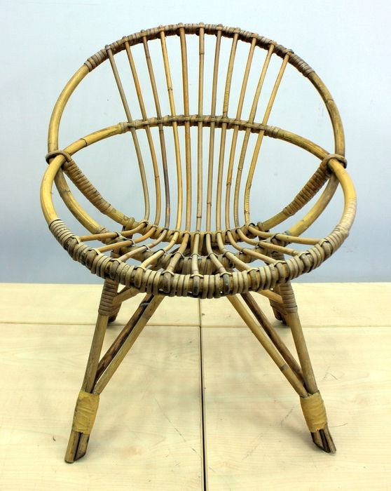 Vintage bamboo high chair - bamboo