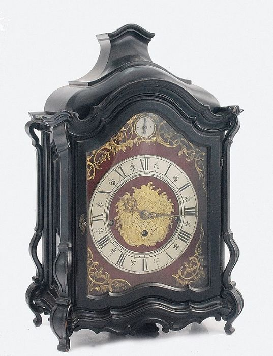 Rarity - Viennese Baroque clock with a repeater and CARILLON 8 bells + music box - Wood - Second half 19th century