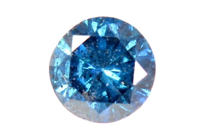 Diamond - 0.46 ct - Brilliant - Intense Blue - SI2  - * NO RESERVE PRICE *