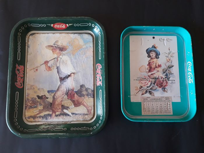 Coca-Cola - Decorative objects Trays (2) - metal