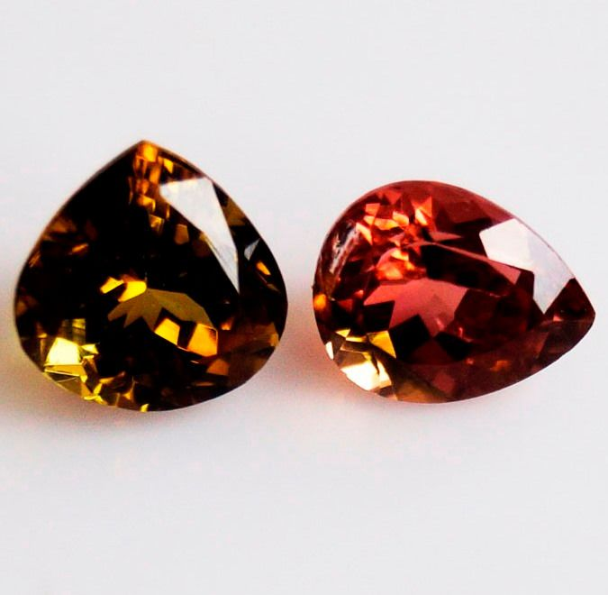 2 pcs  Tormalina - 3.90 ct