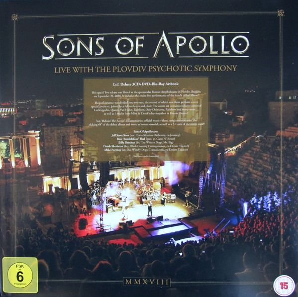 Sons Of Apollo - Live With The Plovdiv Psychotic Symphony - Mint & sealed - 3 - CD Box set, DVD - 2019/2019