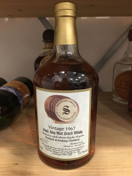 Ardbeg 1967 28 years old Pale oloroso - Butt no. 575 - Signatory Vintage - b. 1995 - 70cl