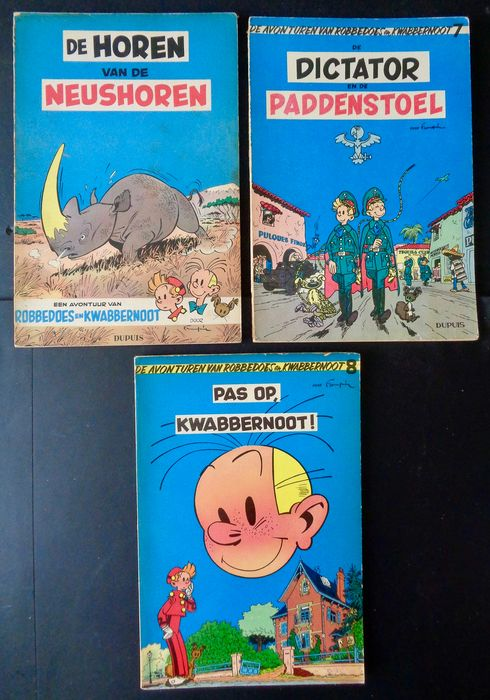 Robbedoes en Kwabbernoot - Diverse titels - Softcover - First edition - (1955/1956)