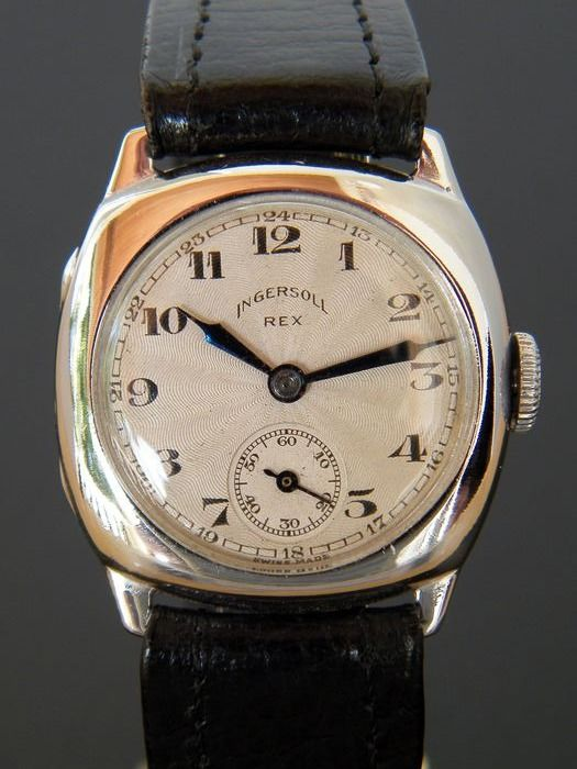 "Ingersoll - Rex - 1920s cushion watch - fixed lugs - like new - ""NO RESERVE PRICE"" - Men - 1901-1949"