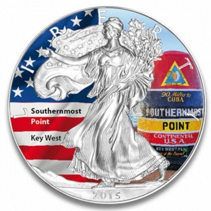 USA - 1 Dollar 2015 - Southernmost Point Key West - 1 Oz - Silber