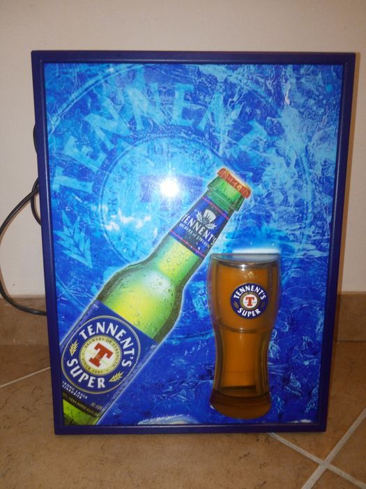 Tennent's beer light sign (1) - Plastic