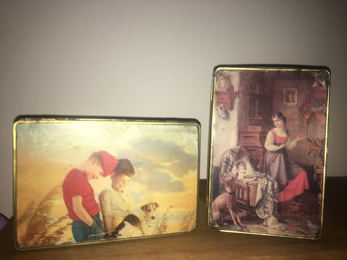 2 beautiful tins from the 1950s and 1960s (2) - Pewter/Tin