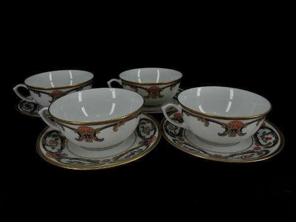 Cartier - Limoges - Kop & schotel sets (4) - Porselein