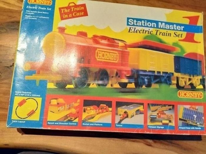 Hornby 00 - Train set - New in opened box, never used, stickers never stuck! Even the rubber bands are still there!