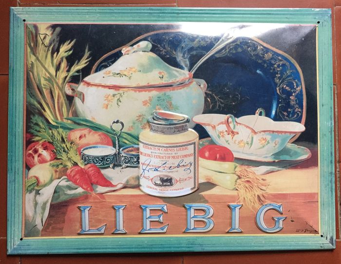 Liebig - Curved advertising plate (1) - Tole