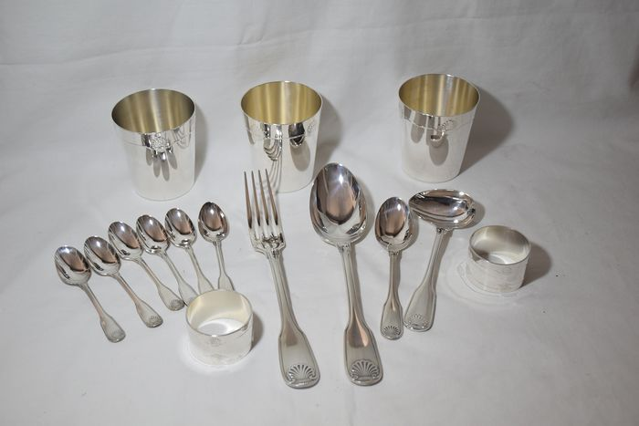 Christofle - Christofle - Silverware - cutlery (1) - Art Deco - silver plated (1) - Art Deco - silver plated