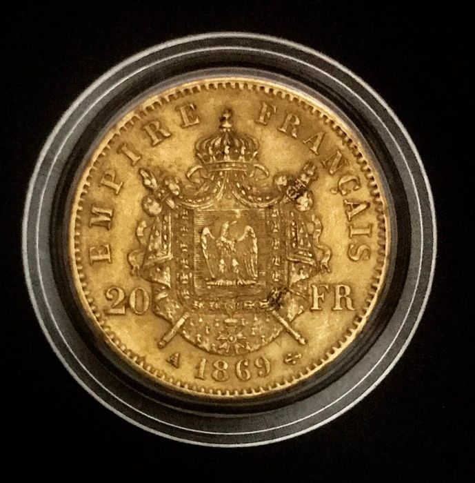 20 Francs 1869-A Napoléon III - Or