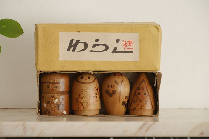 Four Seasons Sosaku Kokeshi with original box (4)