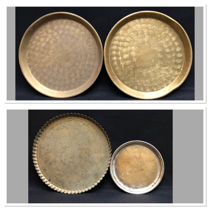 Trays - Brass, Silverplate