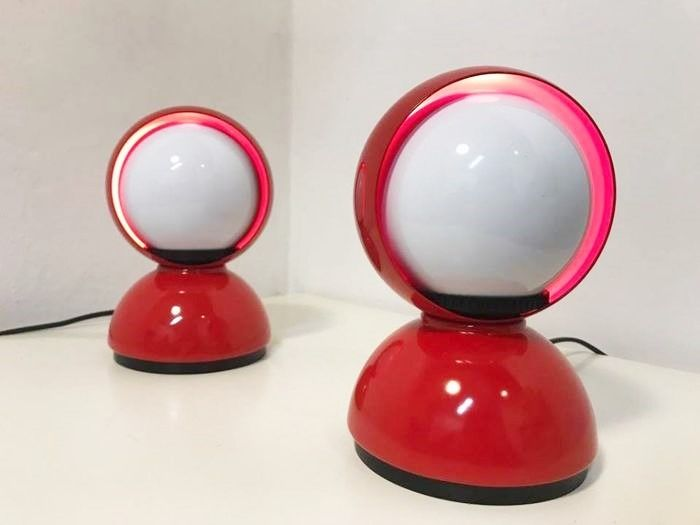 Artemide - Red eclipse table lamps
