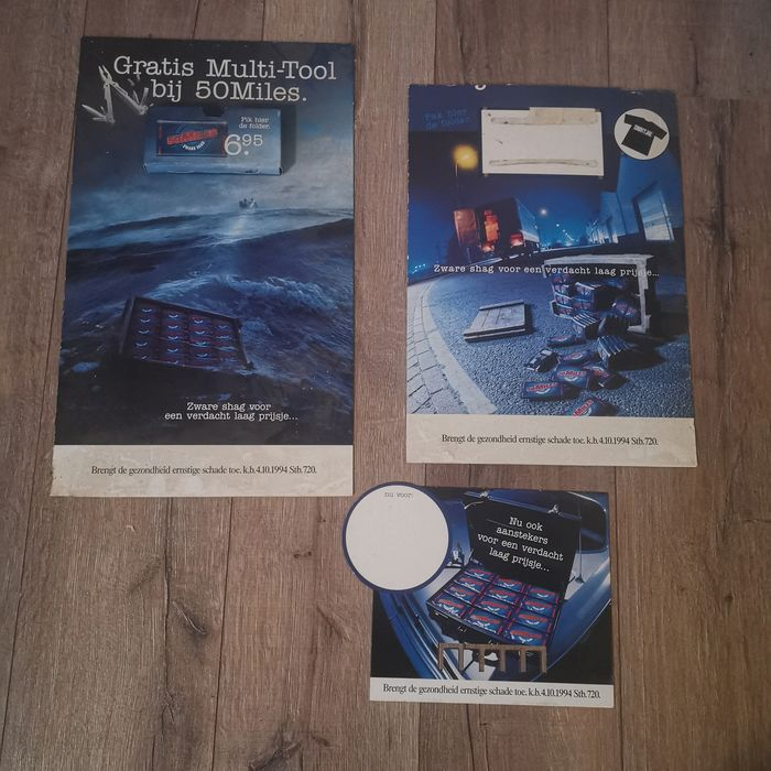 3 Piece Advertising material of 50 Miles Heavy Shag 1994 - Cardboard