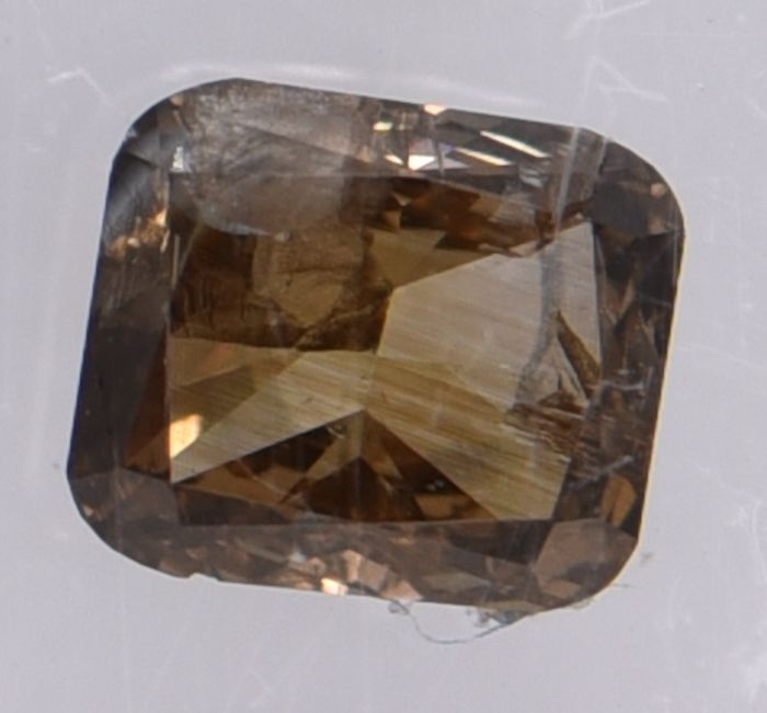 1 pcs Diamond - 0.40 ct - Cushion, No Reserve Price!  - fancy brown - I2