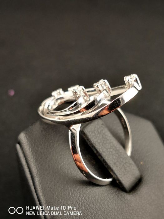 Carità - 18 kt. White gold - Ring - 0.15 ct Diamond