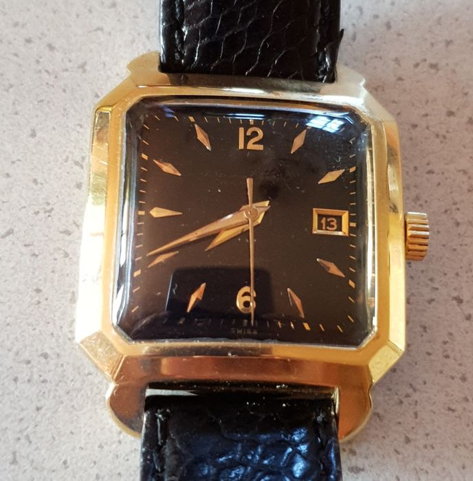 International Watch & Co - Feine 18kt Goldarmbanduhr Automatik Kaliber 8521 - Heren - um 1955