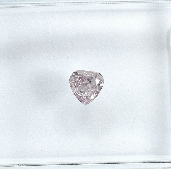 Diamant - 0.16 ct - Peer - Natural Fancy Light Pink - I1 - NO RESERVE PRICE