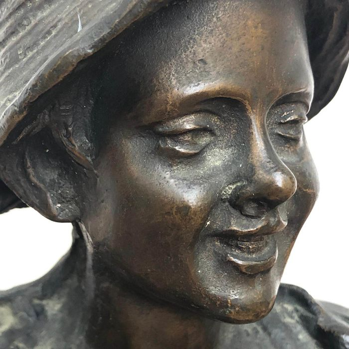 Sculpture, Child - Bronze - Early 20th century