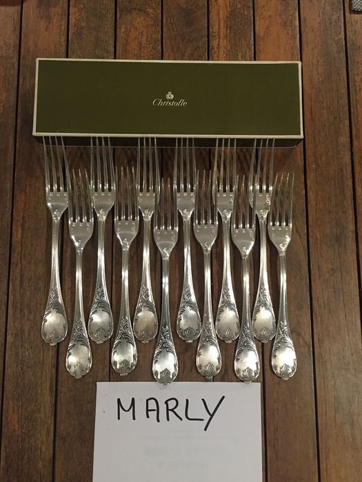 christofle - Fork (12) - Silver plated