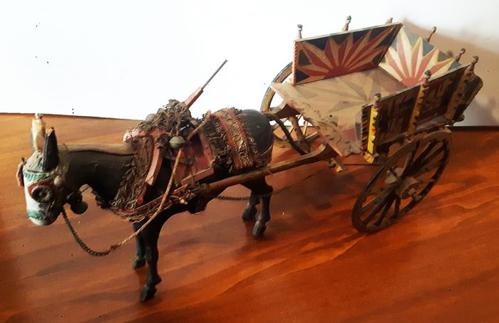 Sicilian cart in scale - Wood