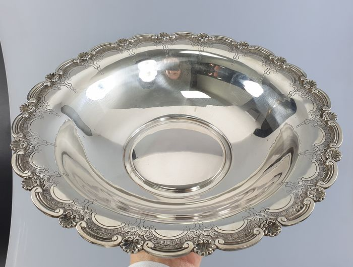 Bread basket - .833 silver - Portugal - mid 20th century