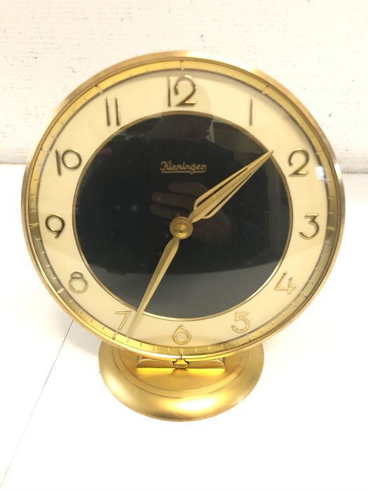 Table clock Kieninger - Brass - 60s / 70s