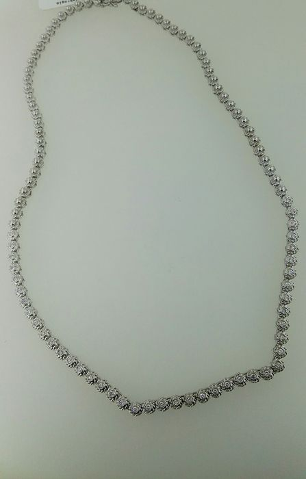 18 kt. White gold - Necklace - 0.70 ct Diamond